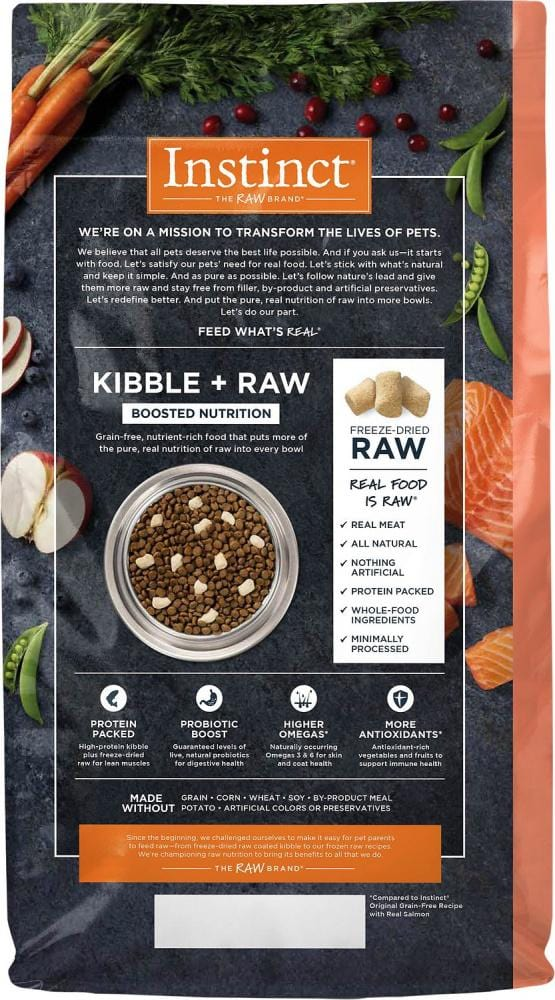 Nature's Variety Instinct Raw Boost Grain Free Recipe with Real Salmon Dry Cat Food