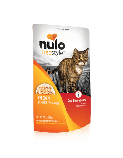 Nulo Freestyle Grain Free Chicken in Broth Meaty Cat Food Topper Pouch