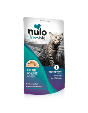 Nulo Freestyle Grain Free Chicken & Salmon in Broth Meaty Cat Food Topper Pouch