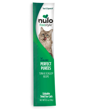 Nulo FreeStyle Perfect Puree Tuna & Scallop Recipe Lickable Cat Treats