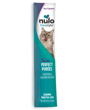 Nulo FreeStyle Perfect Puree Chicken & Salmon Recipe Lickable Cat Treats