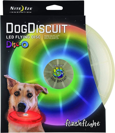 Nite Ize Flashfight Dog Discuit LED Flyin Disc Toy for Dogs