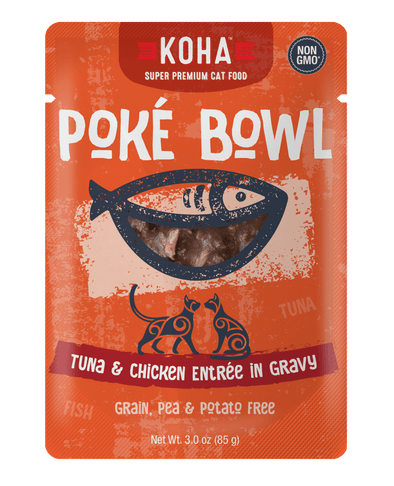 Koha Poké Bowl Tuna & Chicken Entrée in Gravy Wet Cat Food Pouch