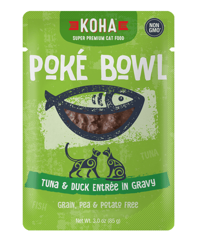 Koha Poké Bowl Tuna & Duck Entrée in Gravy Wet Cat Food Pouch