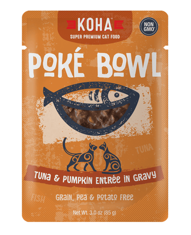 Koha Poké Bowl Tuna & Pumpkin Entrée in Gravy Wet Cat Food Pouch