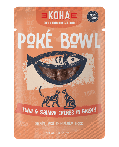 Koha Poké Bowl Tuna & Salmon Entrée in Gravy Wet Cat Food Pouch