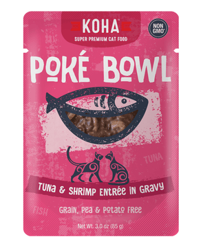 Koha Poké Bowl Tuna & Shrimp Entrée in Gravy Wet Cat Food Pouch