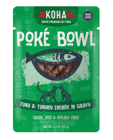 Koha Poké Bowl Tuna & Turkey Entrée in Gravy Wet Cat Food Pouch