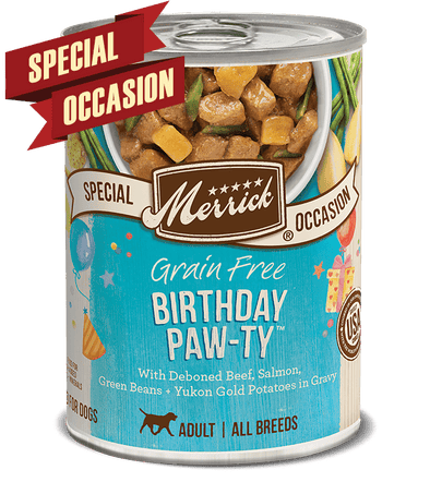 Merrick Special Occasion Grain Free Birthday Paw-ty Single Canned Dog Food