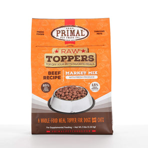 Primal Beef Market Mix Raw Frozen Topper