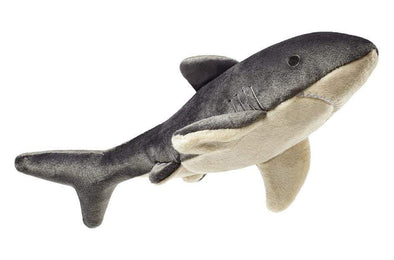 Fluff and Tuff Mac the Shark Plush Dog Toy