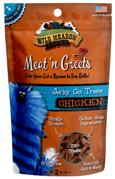 Wild Meadow Farms Chicken Meat'N Greets Treats for Cats
