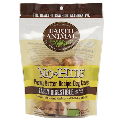 Earth Animal 2-Pack No-Hide Peanut Butter Chew Dog Treats