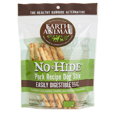 Earth Animal 10-Pack No-Hide Pork Chew Stix Dog Treats