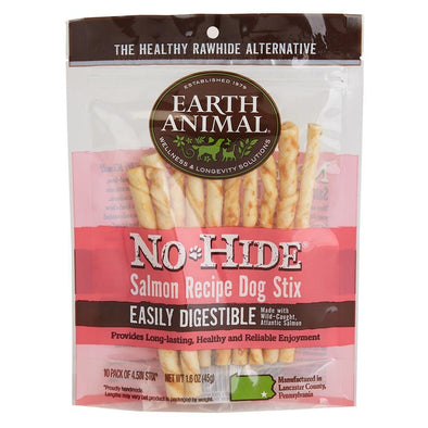 Earth Animal 10-Pack No-Hide Salmon Chew Stix Dog Treats