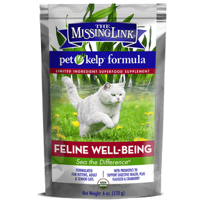 The Missing Link Pet Kelp Feline Well Being Formula Organic Limited Ingredient Superfood Supplement for Cats