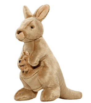 Fluff and Tuff Phoebe & Joey Kangaroo Plush Dog Toy