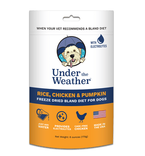 Under the Weather Rice, Chicken & Pumpkin Freeze Dried Bland Dog Food