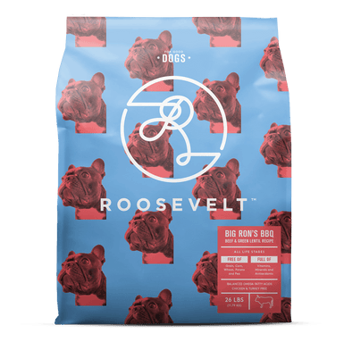 Roosevelt Big Ron's BBQ Beef & Green Lentil Grain Free Recipe Dry Dog Food