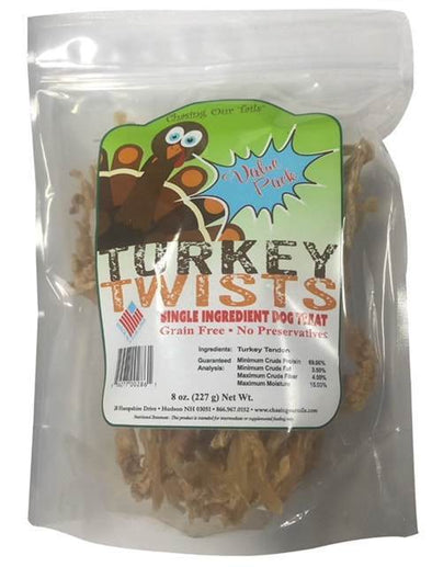 Chasing Our Tails Turkey Twists Single Ingredient Tendon Dog Treat