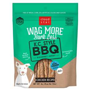 Cloud Star Wag More Bark Less Jerky: K.C. Style BBQ Treats for Dogs