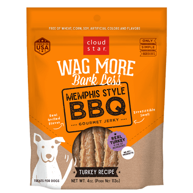 Cloud Star Wag More Bark Less Jerky: Memphis Style BBQ Treats for Dogs