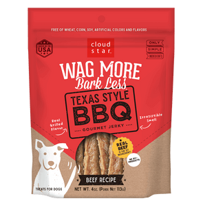 Cloud Star Wag More Bark Less Jerky: Texas Style BBQ Treats for Dogs