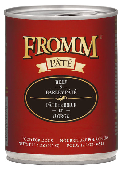 Fromm Beef & Barley Pâté Canned Dog Food