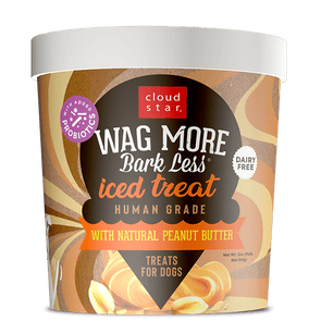 Cloud Star Wag More Bark Less Iced Treat With Natural Peanut Butter Treats for Dogs