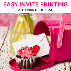 Print Invitations Online with Prints of Love