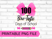 100 Days of School Clip Art Sublimation Design