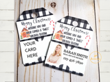 Business Marketing Hang Tags, Business Card Holder Christmas Tags for Marketing and Client Gifts, Real Estate Agent Broker Sales