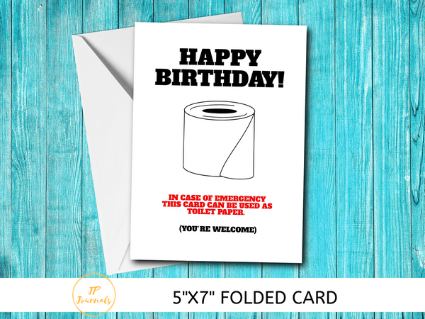 Funny Toilet Paper Birthday Card - Quarantine 2020 Birthday