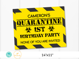 Quarantined 1st Birthday Sign - Printable Poster - Edit Online - Print at Home - Personalized Customized First Birthday Quarantine Sign