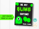 Slime Valentine Printable- Edit Online Print at Hom