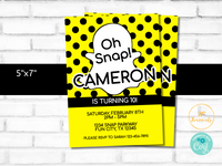 Oh Snap Birthday Party Invitation Template - Edit Online Print at Home - Snap Ghost Chat