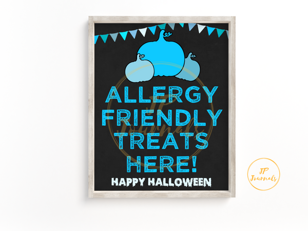 Teal Pumpkin Printable Sign - Allergy Friendly Treats Here