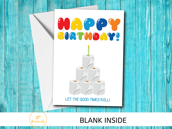 Funny Toilet Paper Birthday Card - Quarantine 2020 Birthday - Funny Quarantined Birthday Card