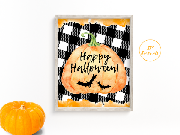 Happy Halloween Decor - Printable Wall Art