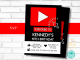 Online Video Theme Birthday Party Invitation Template - Edit & Print - Printable Invitation - Streaming Gamer Online Video