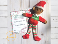 Personalized Christmas Elf, Brown