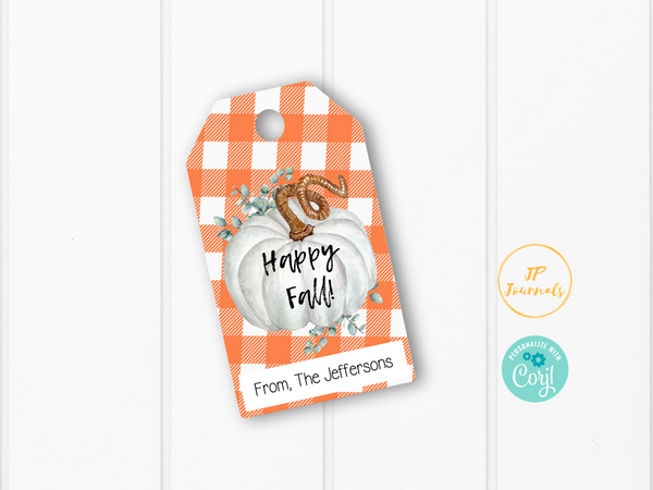 Printable Fall Treat Tags - Happy Fall Gift Favor Labels