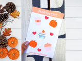 Fall Stickers, Pumpkin Spice Coffee, Pumpkin, Cozy Books, Pumpkin Spice Cupcake, Fall Planner Stickers