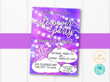 Sleepover Slumber Party Birthday Party Invitation Template