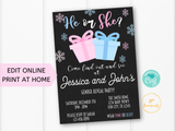 Christmas Gender Reveal Party Invitation Template