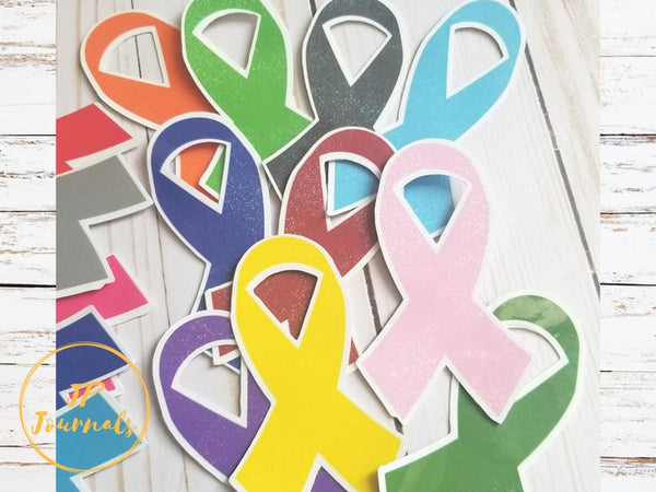Awareness Ribbon Stickers, Breast Cancer Awareness, Cancer Awareness, Mental Health Awareness, Disease Awareness Stickers