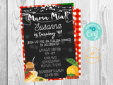 Mama Mia Italian Dinner Party Invitation - DIY Edit Printable Invite
