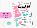 Nailed It Baking Party Invitation Template