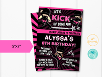 Girl Ninja Birthday Party Invitation Template - Edit Online Print at Home