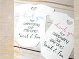 Custom Baby Shower Thank You Tags, Baby Bodysuit Tags, Thank You For Celebrating